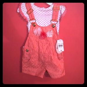2 piece overall shorts set
